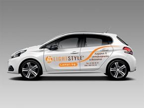 Automobiliai su reklama